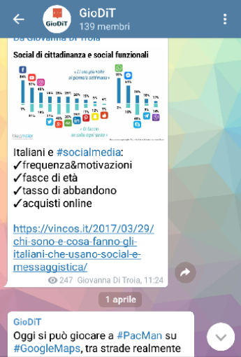 canale Telegram @GioDiT