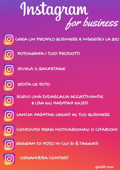 Instagram for business giodit