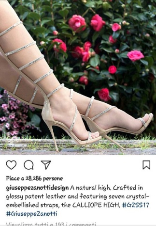 instagram for business Giuseppe Zanotti design