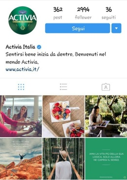 instagram marketing activia