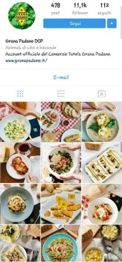 instagram marketing grana padano