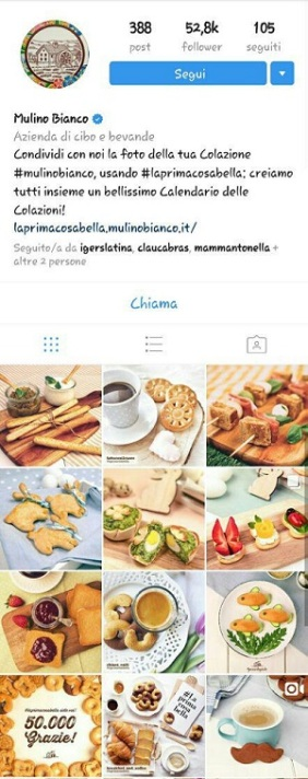 instagram marketing mulino bianco