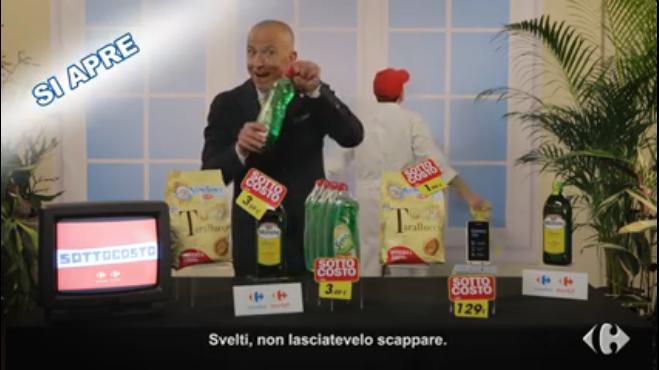 Carrefour e la campagna social Sottocosto con GiorgioMastrota