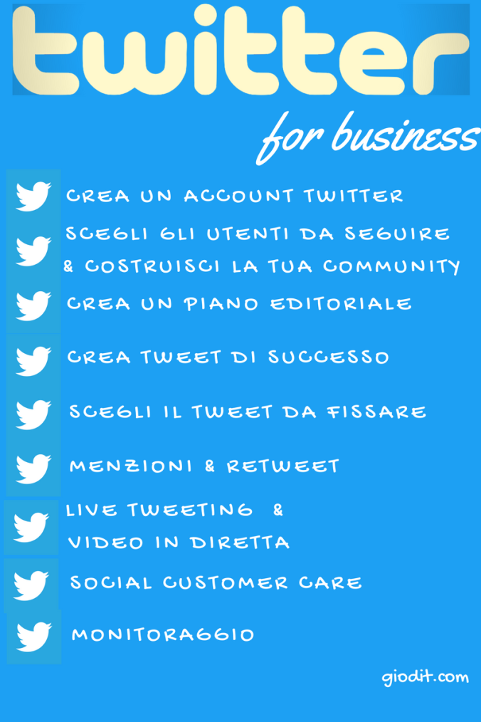 Twitter Marketing for business Infografica by GioDiT