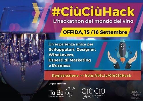 #CiùCiùHack-hackathon sul mondo del vino per giovani innovatori_locandina evento