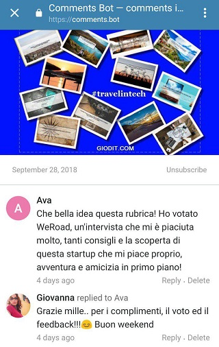 come funziona comments bot su Telegram_ GioDiT
