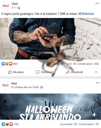 Iliad social media Halloween 2019