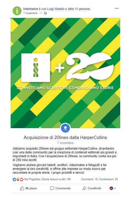 Interwine_acquisisce 20lines da HarperCollins_Facebook