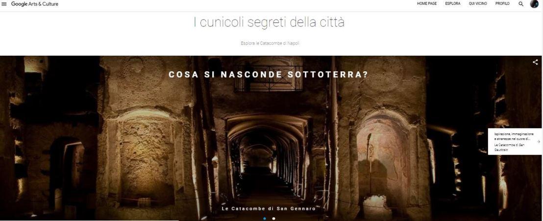 Su Google Arts & Culture debutta l_arte di Napoli_ Napoli sotterranea_Catacombe di San Gennaro