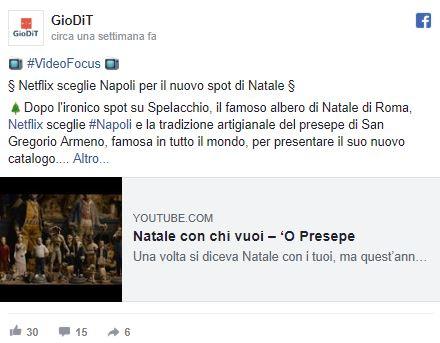 Netflix sceglie Napoli per il nuovo spot di Natale