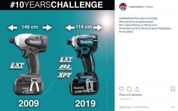 #10YearChallenge sui social _Makita