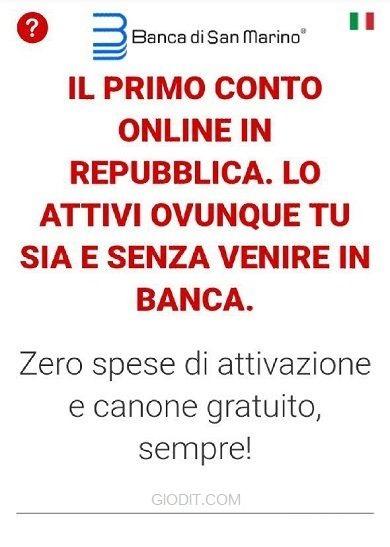 B1 il conto corrente online della Repubblica di San Marino