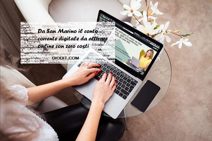 Da San Marino il conto corrente digitale da attivare online con zerocosti