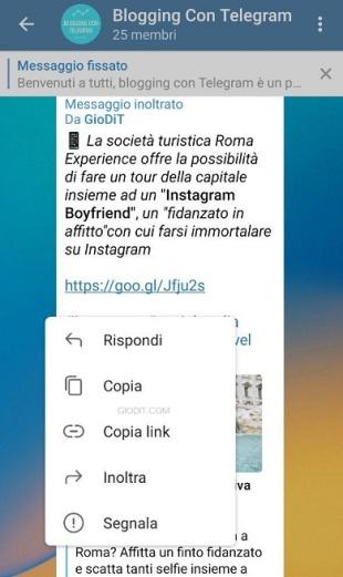 novità nei gruppi Telegram4