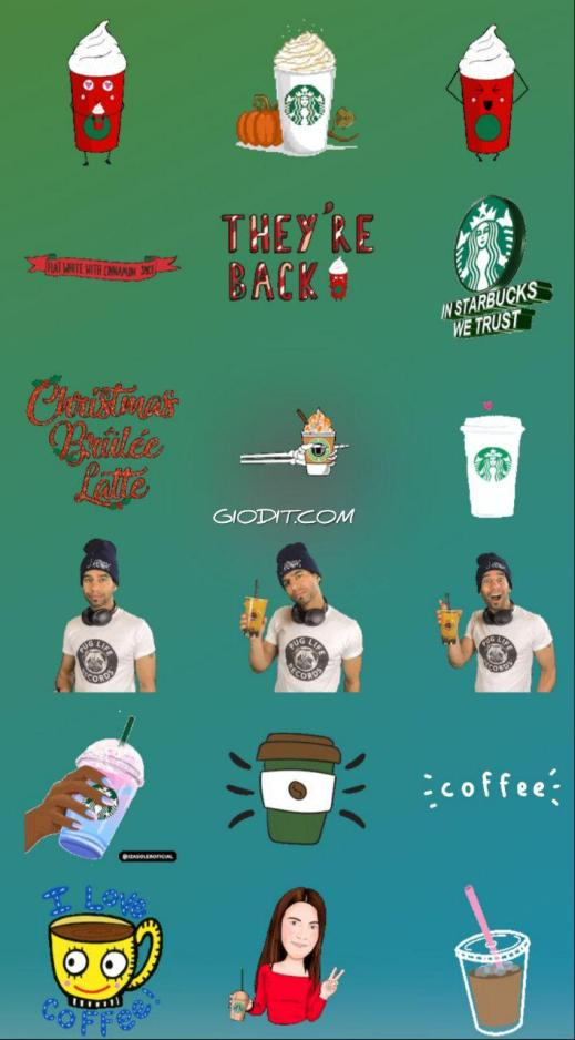 Le gif dei brand invadono le Instagram Stories_ Starbucks