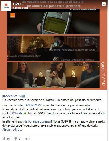 Una sorpresa per natale_ pubblicità Orange Spagna_ Nokia 3310