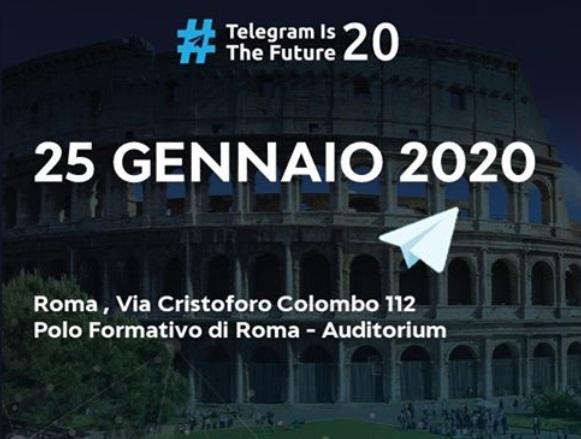 #TelegramIsTheFuture: a Roma l'evento di formazione dedicato a Telegram