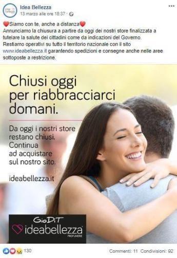 Idea Bellezza_comunicare nell'emergenza