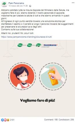 Pam Panorama: comunicazione Facebook nell'emergenza sanitaria Covid-19