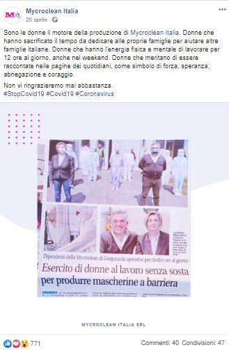 """Le mascherine """"spaziali"""": intervista a Milena Baroni di Mycroclean Italia"""