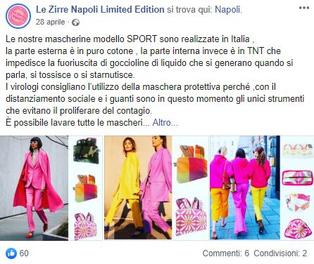 Mascherine fashion e per gli aperitivi con il brand made in Napoli Le Zirre [Intervista]