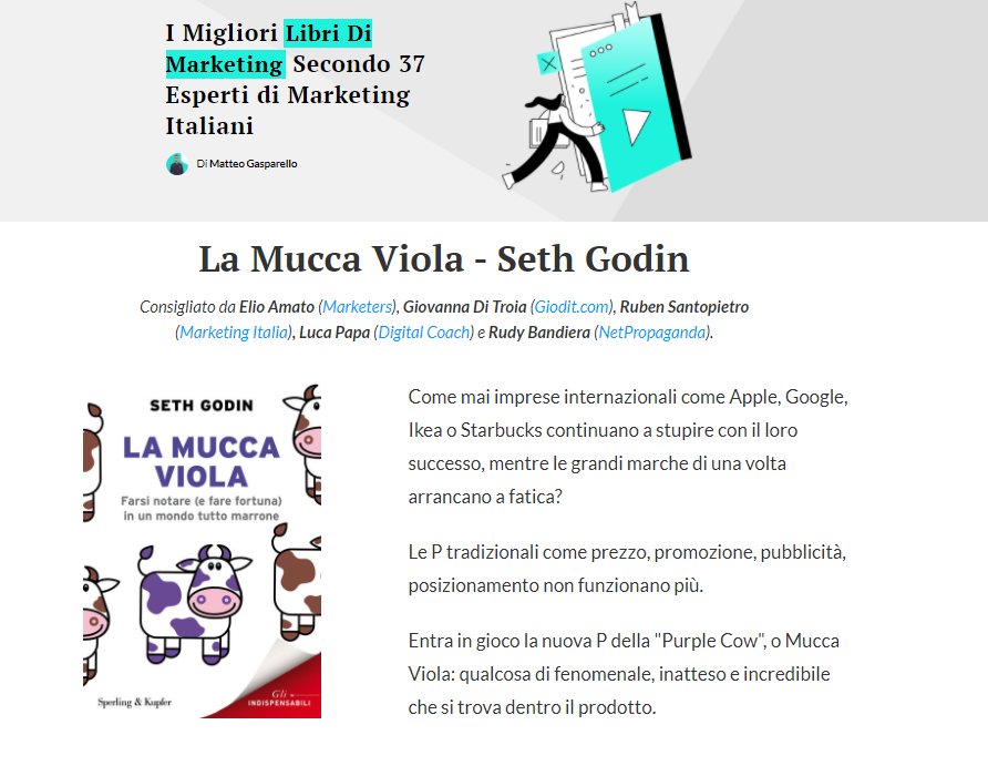 I migliori libri di marketing_contributo Giovanna Di Troia